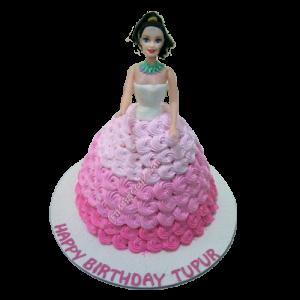 Princess Barbie Doll Cake