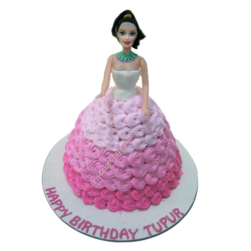 Princess Barbie Doll Cake For Kids Birthday In Faridabad