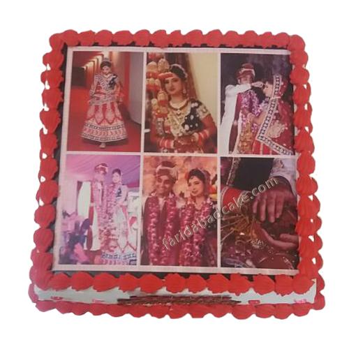 Wedding Photo Cake