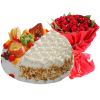 Fruit cake with Bouquet
