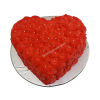 Heart shaped anniversary cake