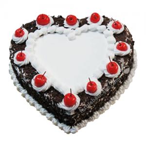 Black forest Heart Shape Cake