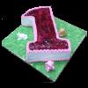 Nuber 1 Blueberry birthday cake