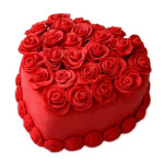 Red Heart Shap Cake