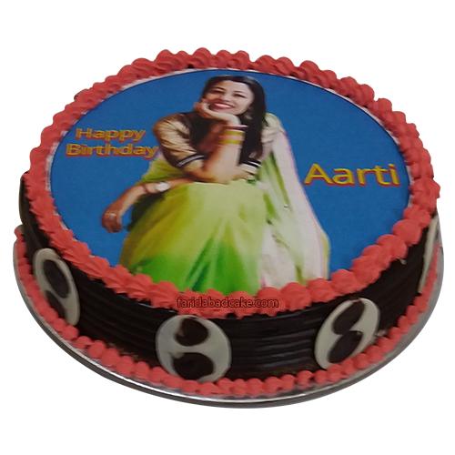 Girl Birthday Photo Cake