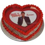 Heart Shape Photo Cake