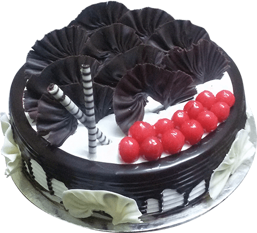 Eggless Chocolate Forest Cake