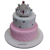 Designer Crown Fondant Cake