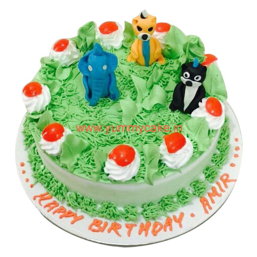 Jungle Book cake, Jungle Birthday Cake-online cake delivery in faridabad