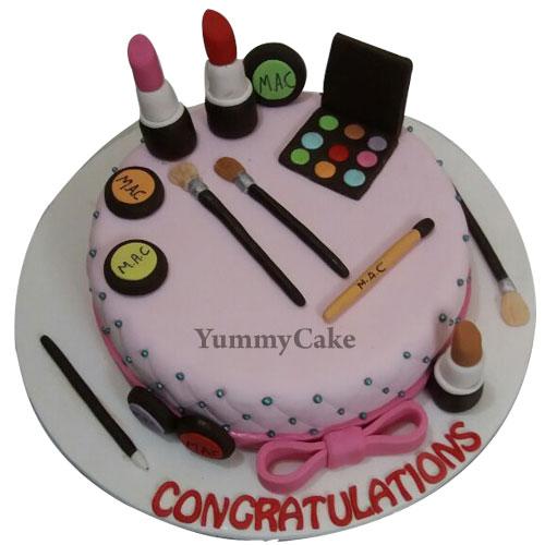 Makeup Birthday Cake For Girls In Faridabad - Faridabadcake-2530