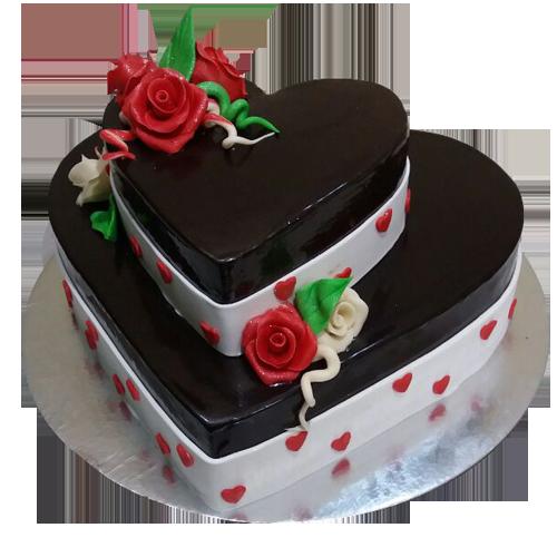 2 Tier Anniversary Cake
