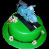 Scooter theme birthday cake