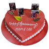 Heart shaped anniversary cake online