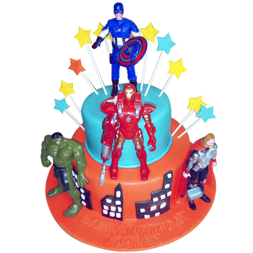 Astonishing Avengers Birthday Cake For Kids Up To 15 Off Free Delivery Personalised Birthday Cards Bromeletsinfo