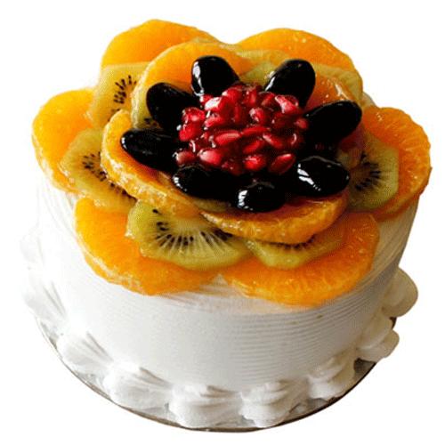 Fresh Fruit Birthday Cake