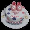 Baby Girl First Birthday Cake