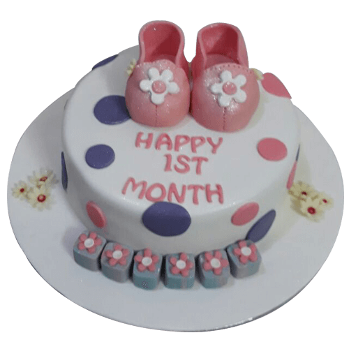 Baby Girl First Birthday Cake