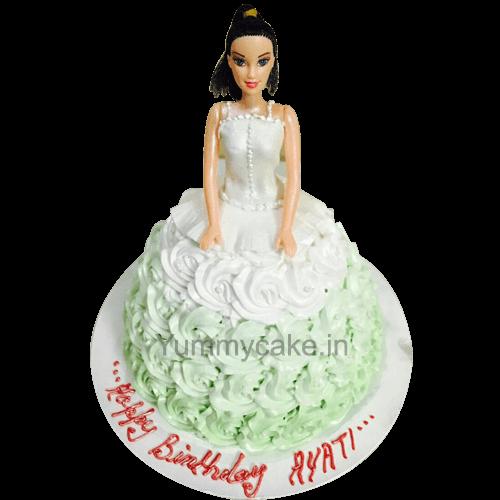 Awesome Barbie Birthday Cake Barbie Birthday Cake Price Design Birthday Cards Printable Inklcafe Filternl
