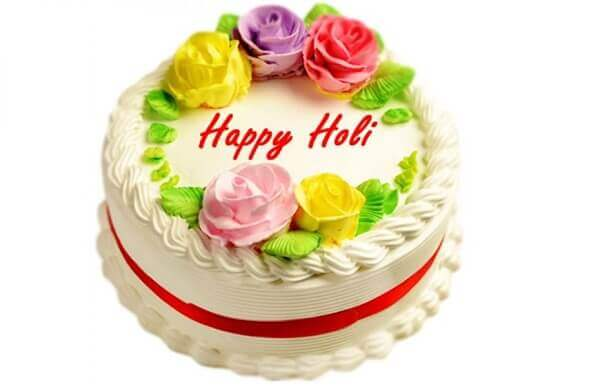 happy holi cake