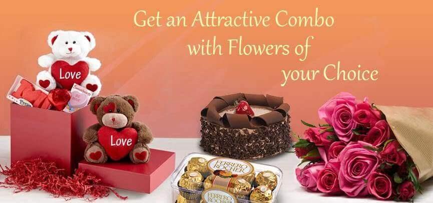 cake & flowers combo