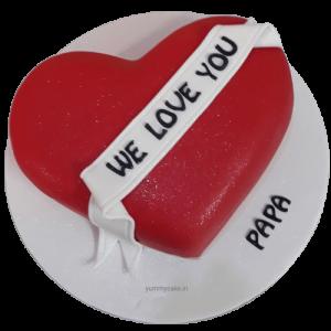 Heart Shaped Birthday Cake Papa