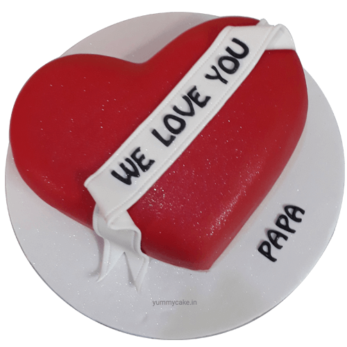 Heart Shaped Birthday Cake Papa