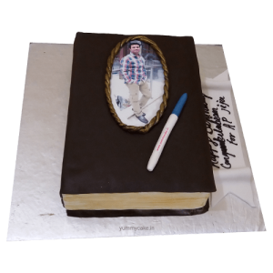 Book Shaped Cake for Husband