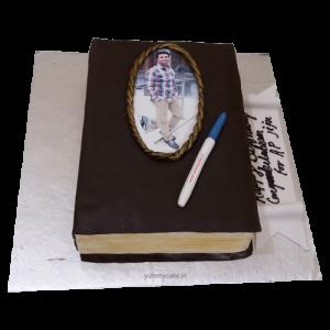 Book Shaped Cake for Husband