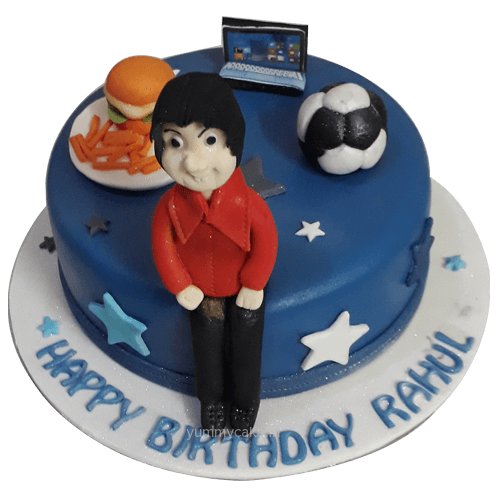 Excellent Personalised Birthday Cakes Online Free Home Delivery 2 3 Hours Personalised Birthday Cards Cominlily Jamesorg