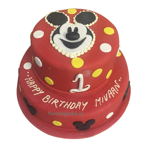 Mickey Mouse Cake Design For Kids Birthday