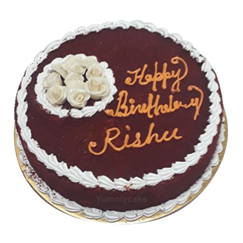 Tremendous Red Velvet Birthday Cake 100 Eggless Free Delivery Funny Birthday Cards Online Fluifree Goldxyz