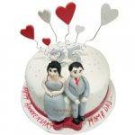 25th-anniversary-cakes