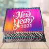 New Year Photo Cake