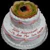50th Wedding Anniversary Cakes