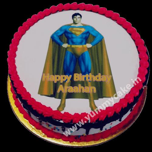 Superman Birthday Cake