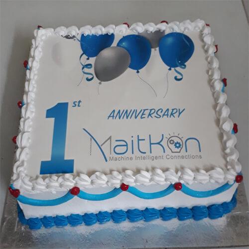 Company 1st Anniversary Photo Cake