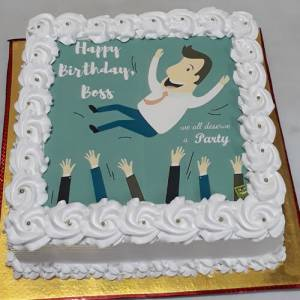 Photo Cake For Boss Birthday