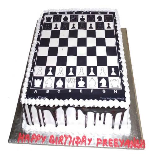 Chess Themed Cake