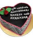Lovely Black Forest Heart Shape Cake