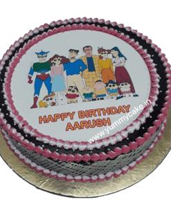 Shinchan Family Photo Cake
