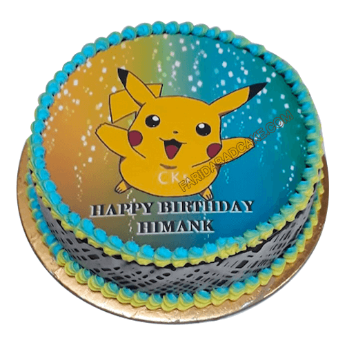 Peachy Pokemon Birthday Cake Coolest Designs At Best Price Personalised Birthday Cards Bromeletsinfo