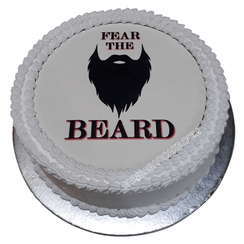 Bearded Man Cake