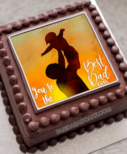 Fathers Day Chocolate Photo Cake