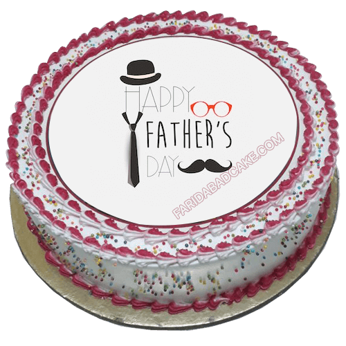 Mustache Cake for Dad