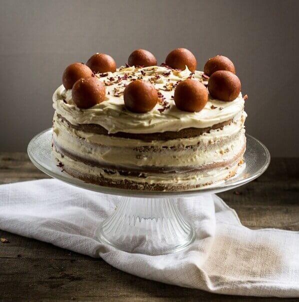gulab jamun cake for birthday