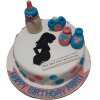 He or She Baby Shower Cake