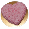 Heart shaped strawberry cake online
