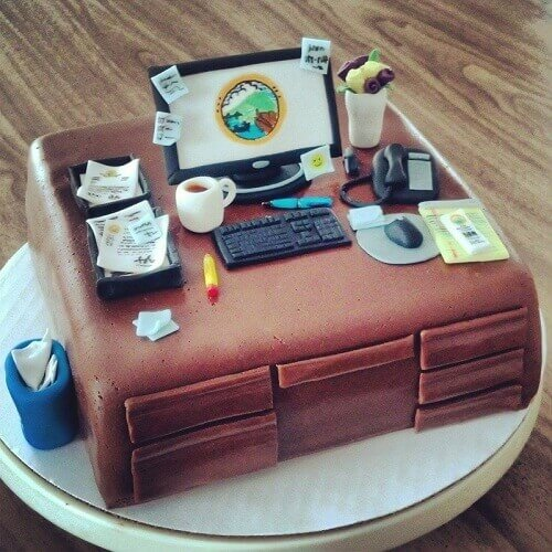birthday cake for hardworking employee