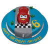 Car theme 6th Birthday Cake