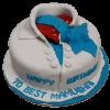 superman shirt theme cake
